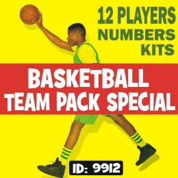 Basketball Team 12 Players Iron-on Numbers Pack