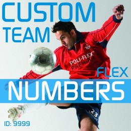 Custom Team Iron-on Number Kits